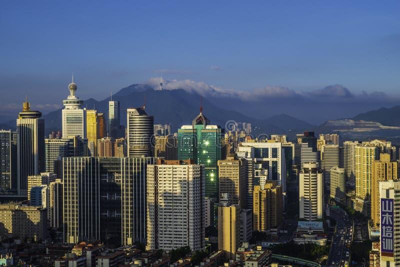 Sceneria Luohu, Shenzhen, Chiny obrazy stock