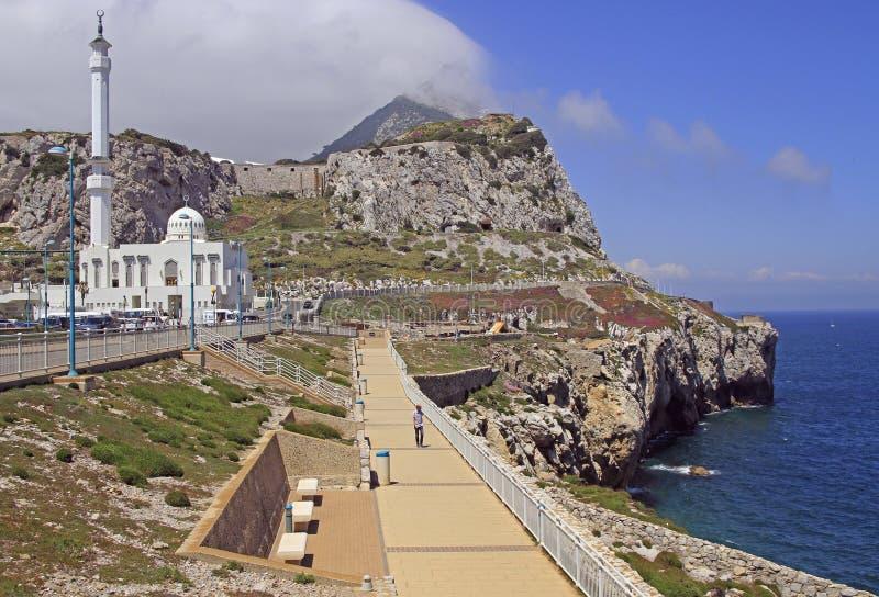 Sceneria meczet w mieście Gibraltar zdjęcia royalty free