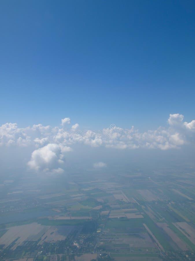 Sceneria na samolocie zdjęcia stock