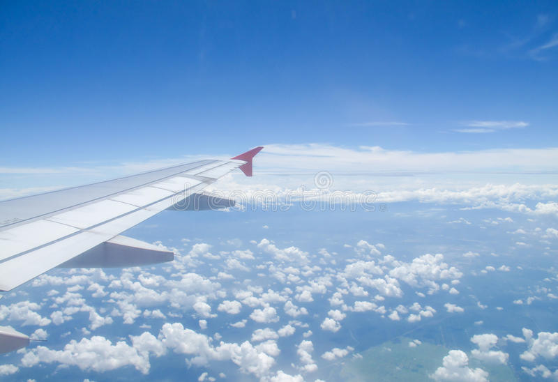 Sceneria na samolocie zdjęcia royalty free