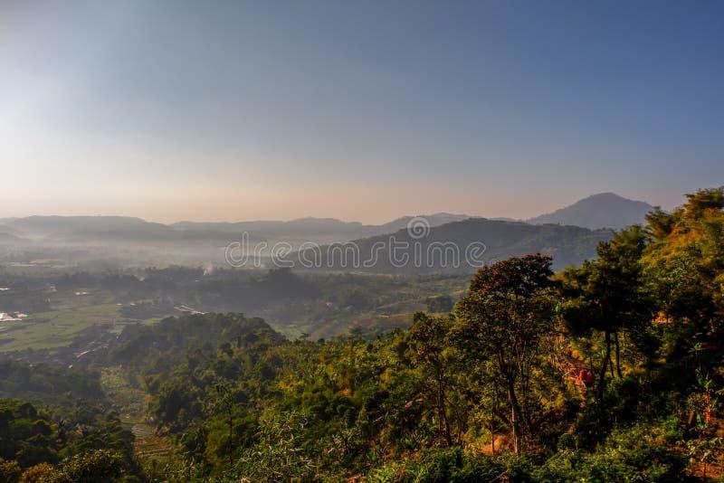 Sceneria natura po wschodu słońca zdjęcie royalty free