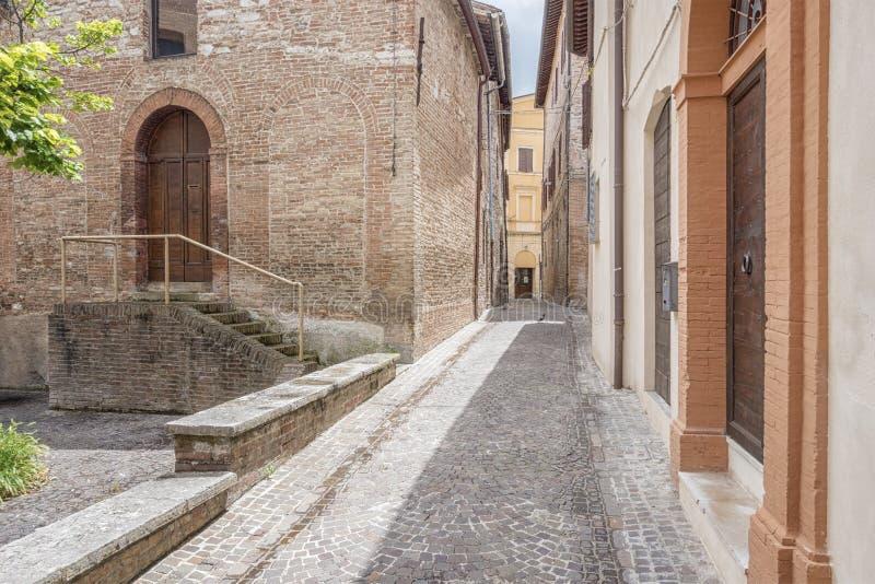 Sceneria w Fabriano Włochy Marche obrazy royalty free