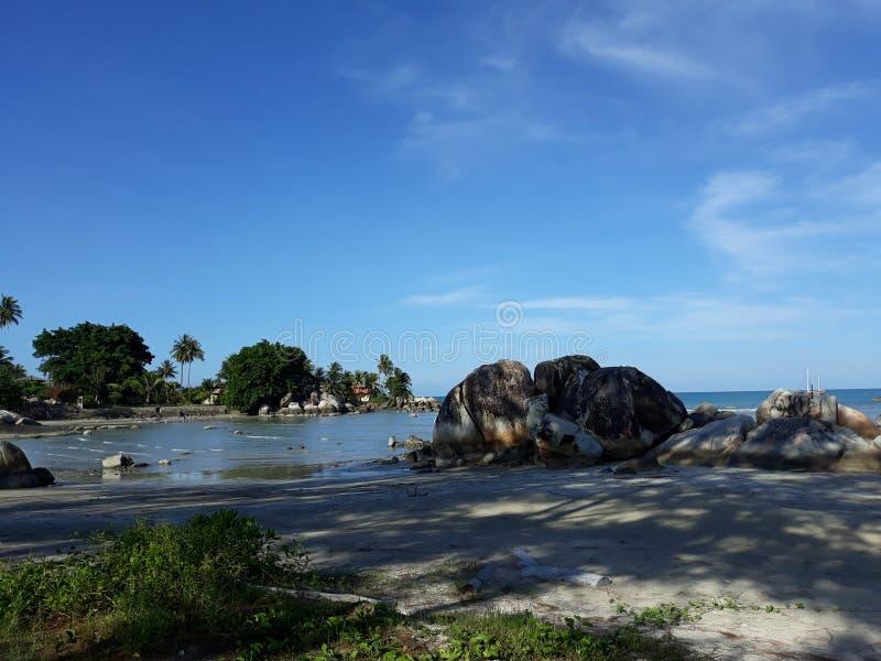 Sceneria w Plażowym Parai Tenggiri obraz stock