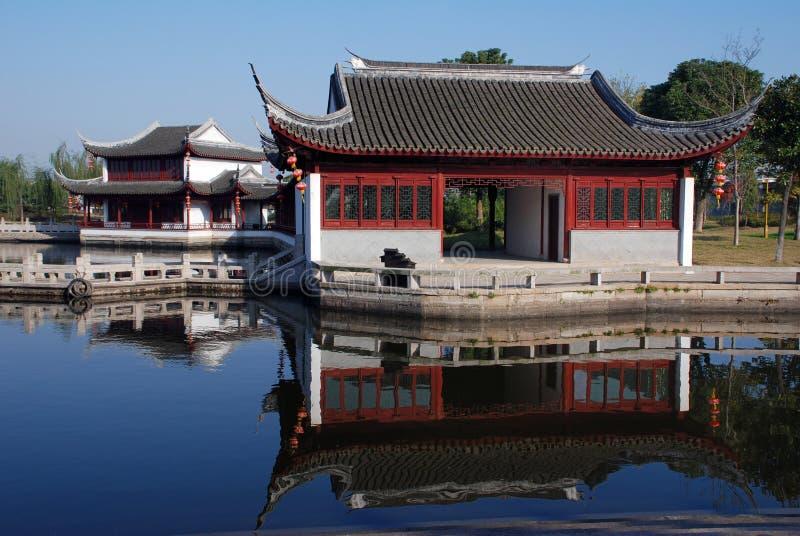 Sceneria Xitang antyczny miasteczko zdjęcie stock