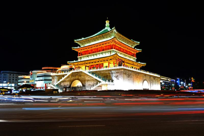 Scenery of the Ancient Capital of Xi`an - Bell Tower royalty free stock photography