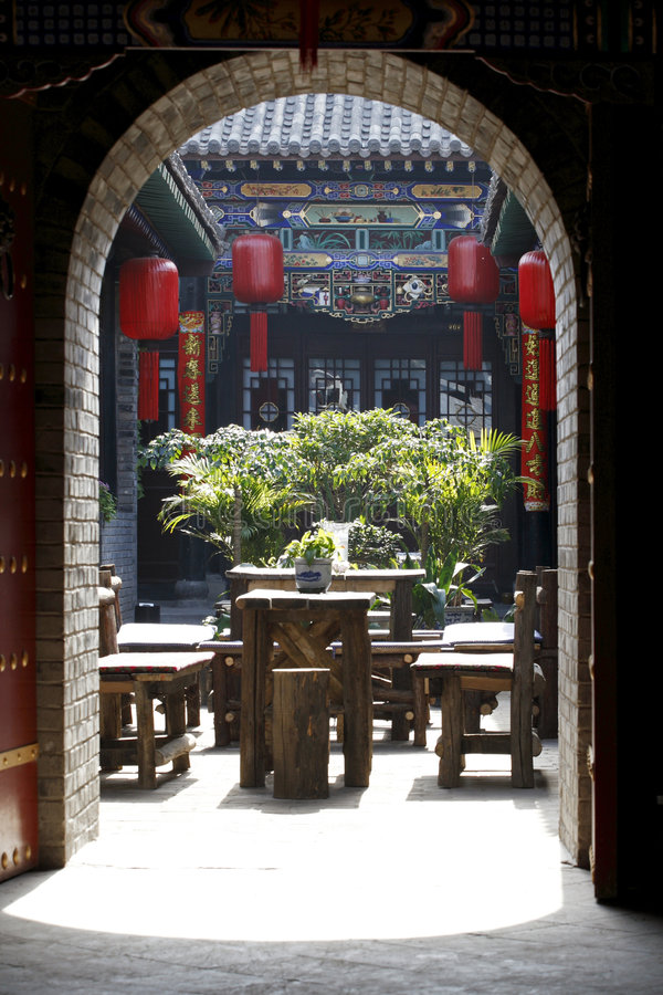Download Scenery of ancient garden. stock photo. Image of building - 5190616