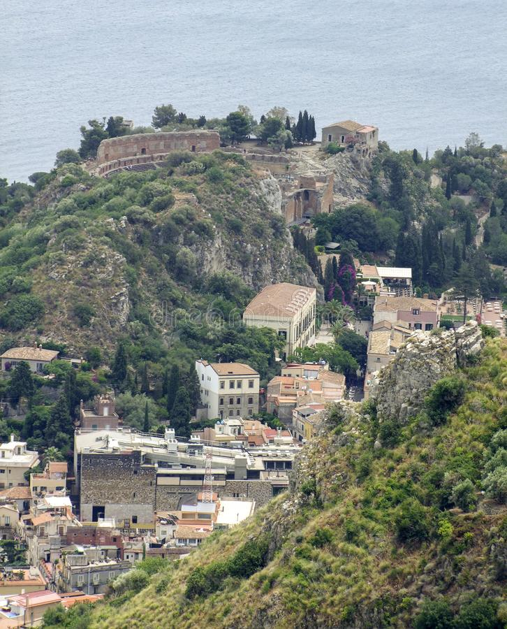 Ancient theatre of Taormina royalty free stock images
