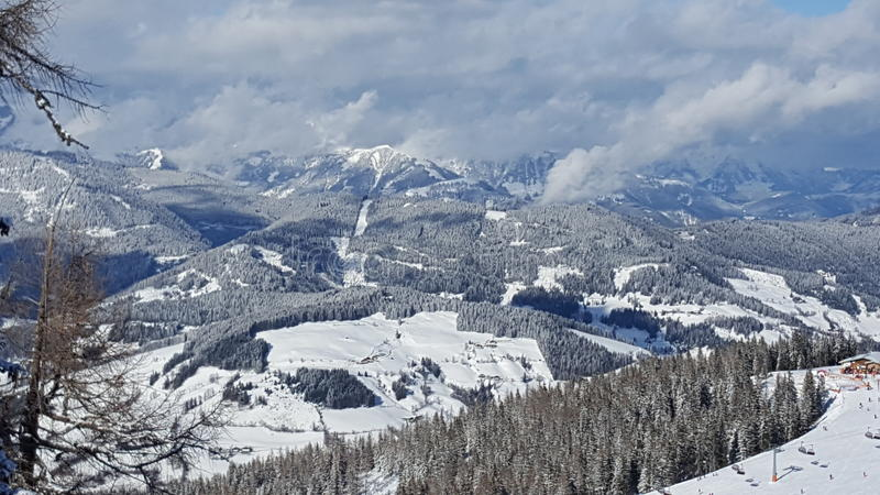 Scenery of Austria in winter royalty free stock photo