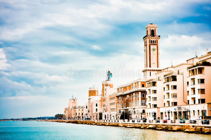 Download Scenery in Bari stock image. Image of promenade, coast - 13956765