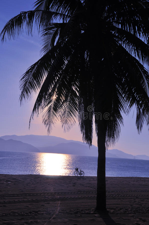Scenery on beach stock photography
