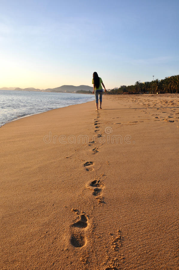 Scenery on beach royalty free stock photos