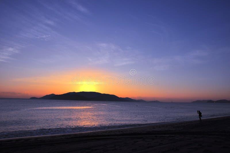 Scenery on beach stock image