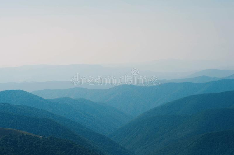 Scenery of Carpathian mountain royalty free stock image
