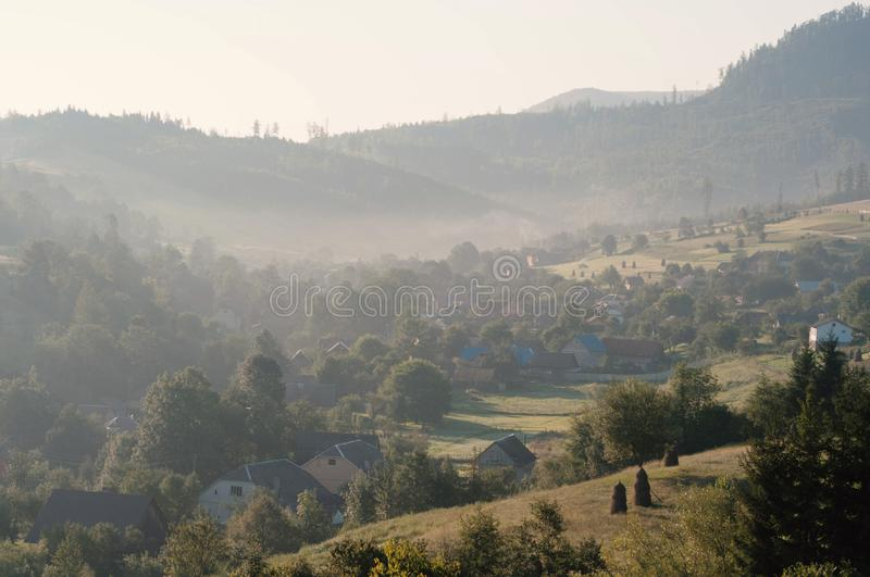 Scenery of Carpathian mountain royalty free stock images