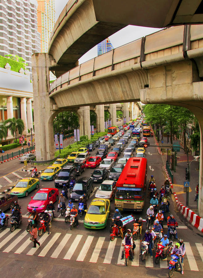 Scenery of central streets of Bangkok