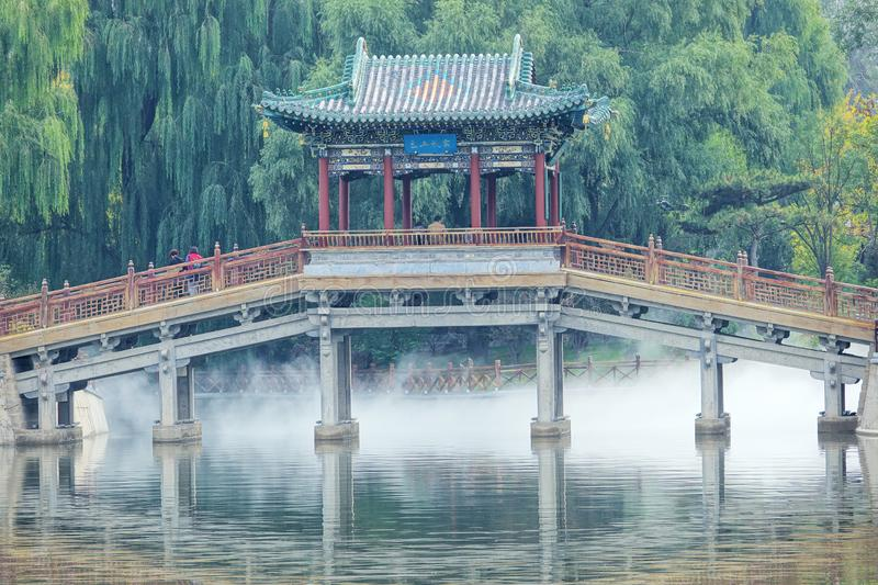 Chinese traditional bridge royalty free stock photography