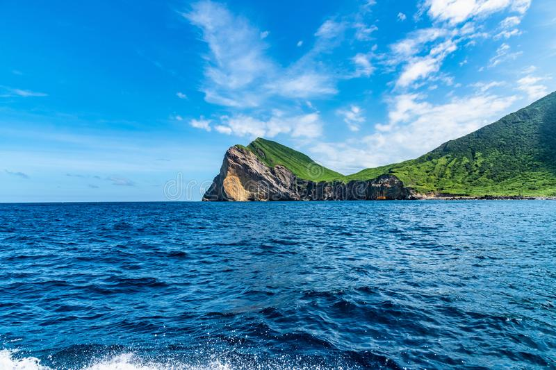 Scenery of the coast in Taiwan stock image