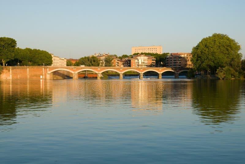 Download Scenery Of Garonne River And Pont(bridge) De Halag Stock Image - Image of france, architectural: 20168063