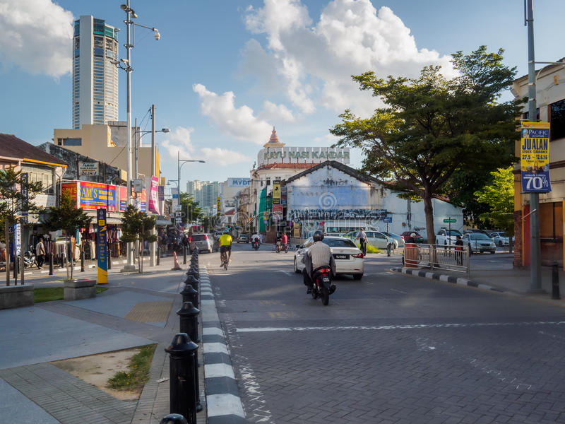 Scenery of George town, Penang, Malaysia royalty free stock photography