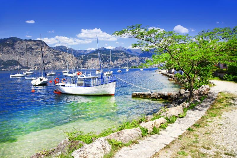 Scenery of Lago di Garda royalty free stock photo