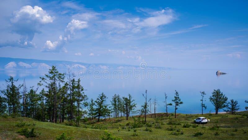 Scenery of the lake Baikal, Olkhon Island, Irkutsk, Siberian, Russia. beautiful views. Scenery of the lake Baikal, Olkhon Island, Irkutsk, Siberian, Russia royalty free stock images