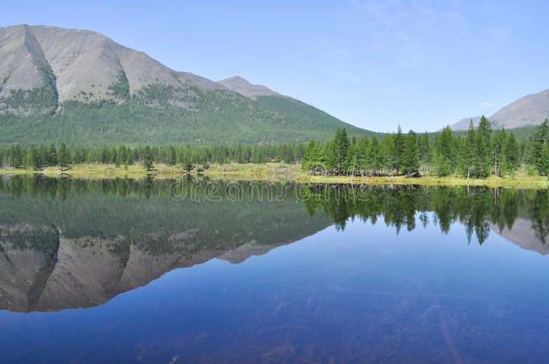 Download Scenery Of The Lake And Reflections Of Mountains Stock Photo - Image: 38933436
