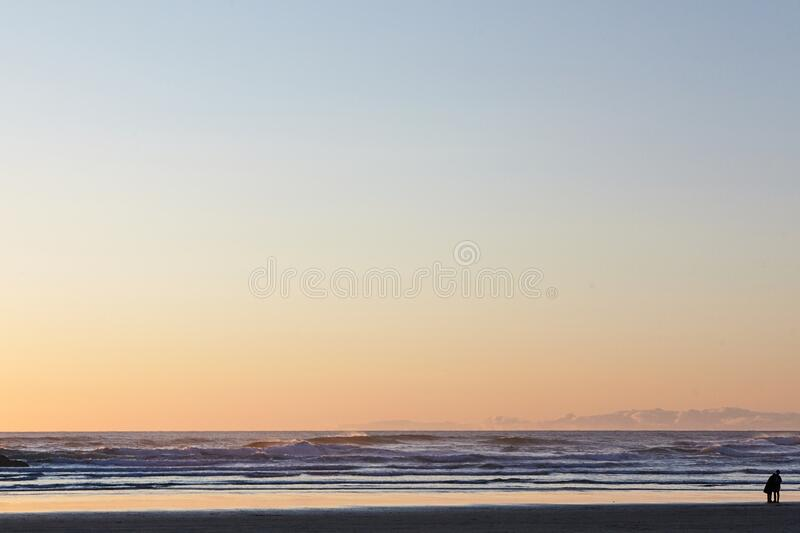 Scenery of the mesmerizing  Pacific Ocean at Cannon Beach, Oregon, USA. A scenery of the mesmerizing  Pacific Ocean at Cannon Beach, Oregon, USA stock photography