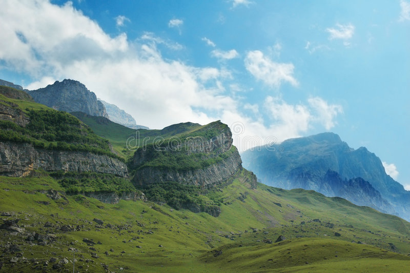 Scenery with mountains stock image