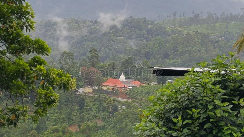 Beautiful scenery from srilankan mountain peak. Scenery, mountains clouds royalty free stock images
