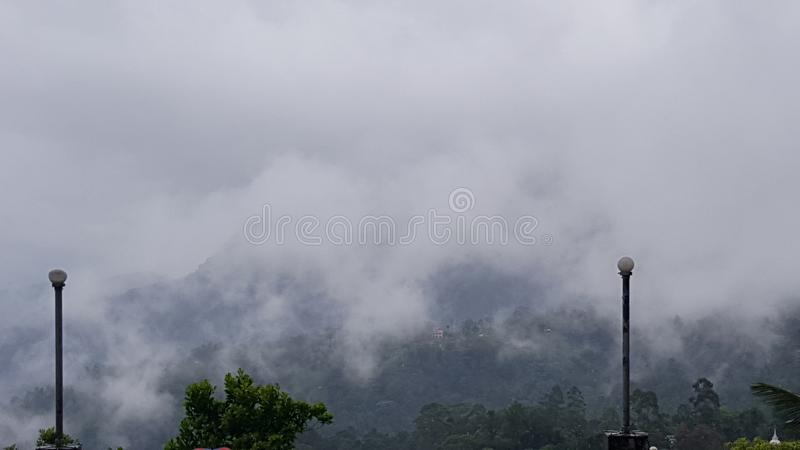 Beautiful scenery from srilankan mountain peak. Scenery, mountains clouds stock images