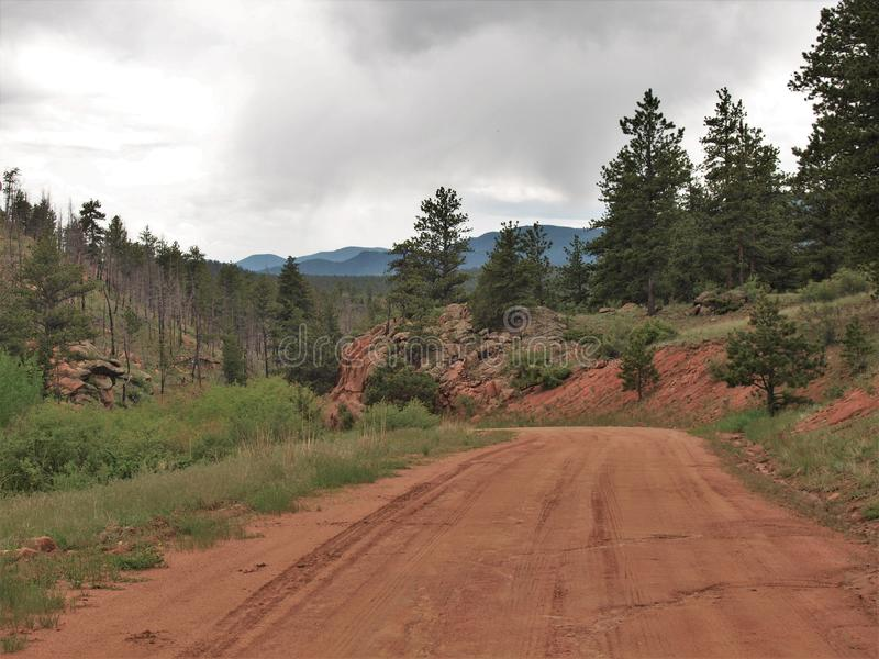 Cripple Creek, Colorado. Scenery of the mountains just outside the small town of Cripple Creek, Colorado stock photography