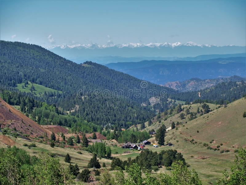 Mountains around Cripple Creek. Scenery of the mountains just outside the small town of Cripple Creek, Colorado stock photos
