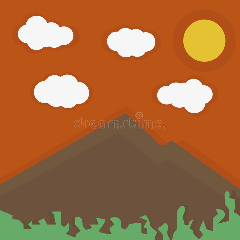 Scenery in a night stock illustration