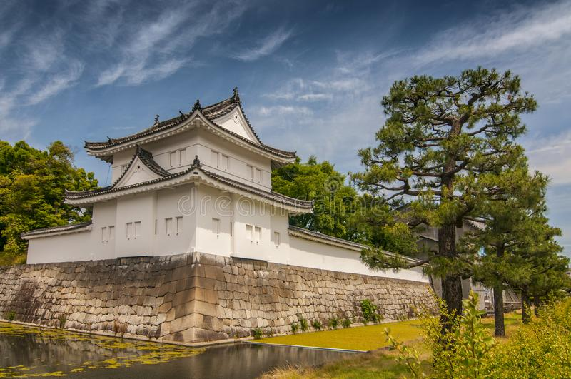 Scenery of the Nijo Castle in Kyoto, Japan stock image