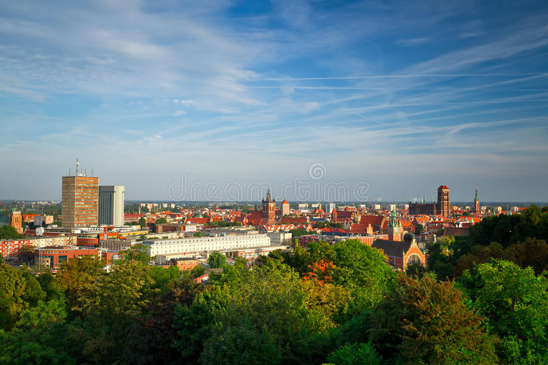 Scenery of old town in Gdansk stock photos