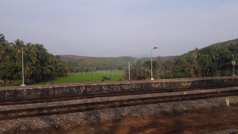 Scenery at a Railway Station royalty free stock photo