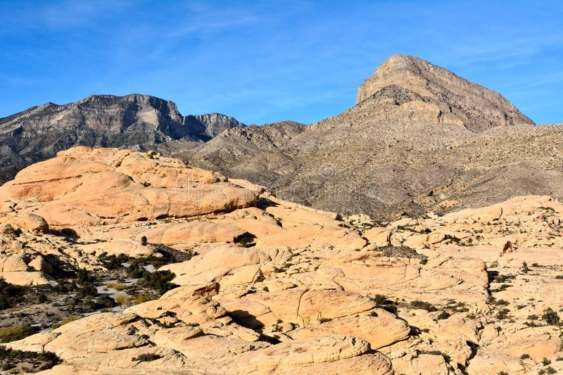 Scenery in Red Rock Canyon conservation area in Nevada, USA. royalty free stock photography