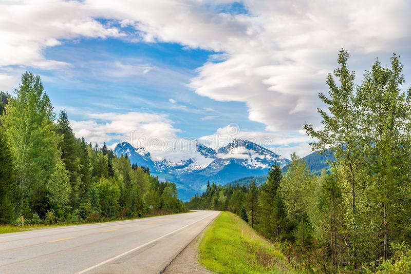 Scenery road of Thompson river valley in British Columbia - Canada stock photos