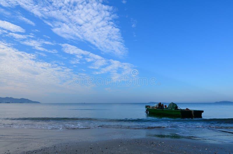 Scenery of Sanya Bay, Hainan Island stock photo