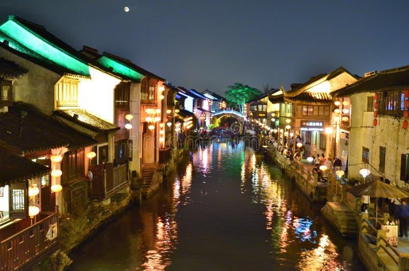 The scenery of Shantang Street at Suzhou,China. royalty free stock image