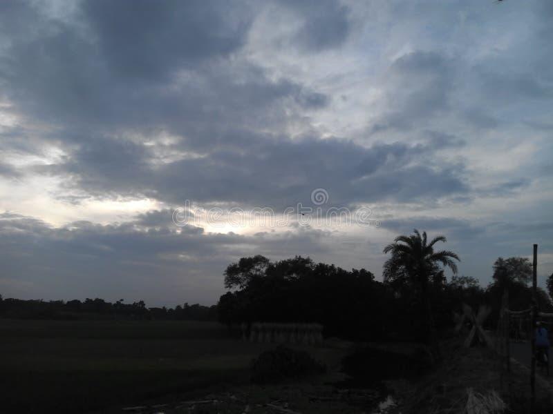 An scenery of sky stock photo