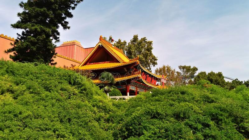 Scenery of a Thematic Park like China. China scenery in a thematic park in the south of Barcelona stock image