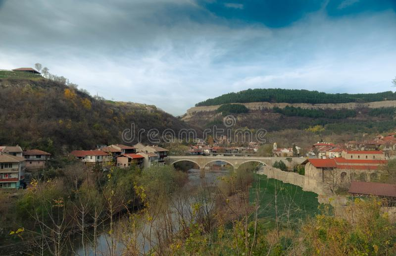 When in Veliko Tarnovo in Bulgaria stock image