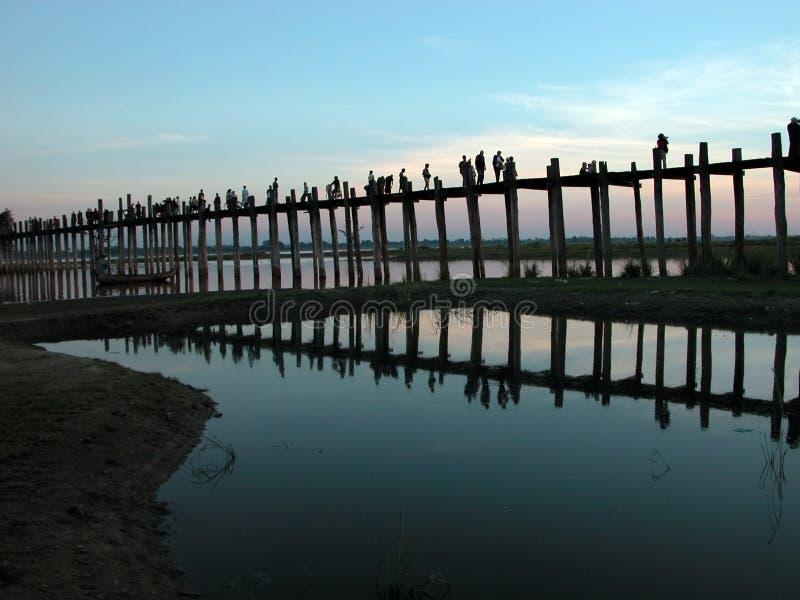 Scenery of Ubein Bridge royalty free stock images