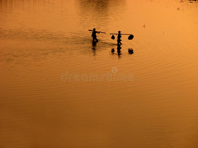 Scenery of Ubein Bridge. In Mandalay Myanmar. The scenes are absolutely fabulous royalty free stock photography