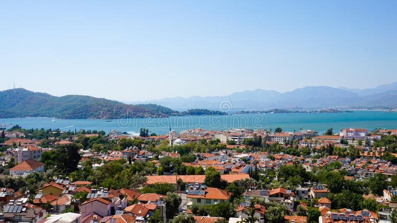 Scenery view of Fethiye.  royalty free stock photos