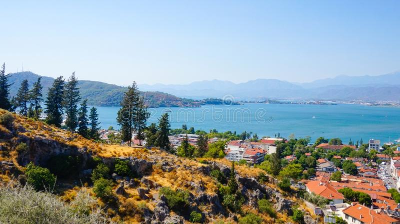 Scenery view of Fethiye.  royalty free stock image