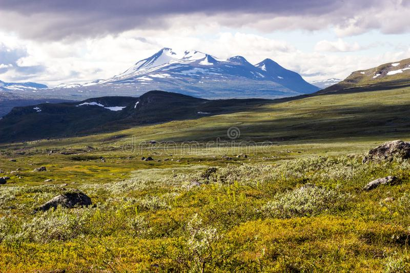 Scenery view in the Swedish north. Sarek national park, nice place for hiking, camping, being into the wild stock photos