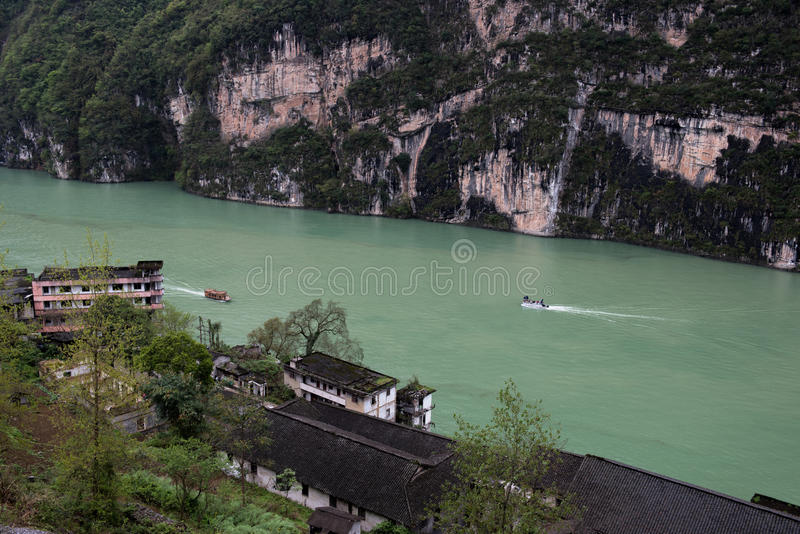 Scenery in Wu River Gorge royalty free stock image