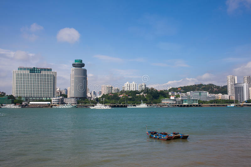 The scenery of Xiamen. The beautiful scenery in xiamen. I take the photo on the Gulangyu royalty free stock photo